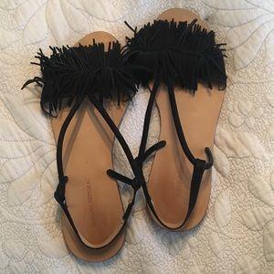Banana Republic fringe sandals